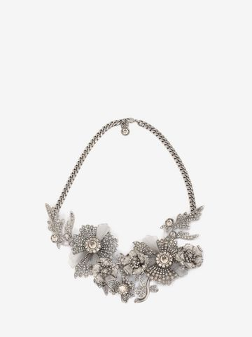 ALEXANDER MCQUEEN Jewelled Floral Necklace Necklace D f