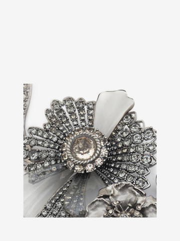 ALEXANDER MCQUEEN Jewelled Floral Necklace Necklace D r