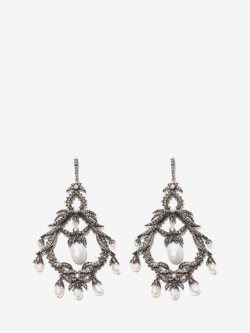 ALEXANDER MCQUEEN Giant Drop Earrings Earring D f