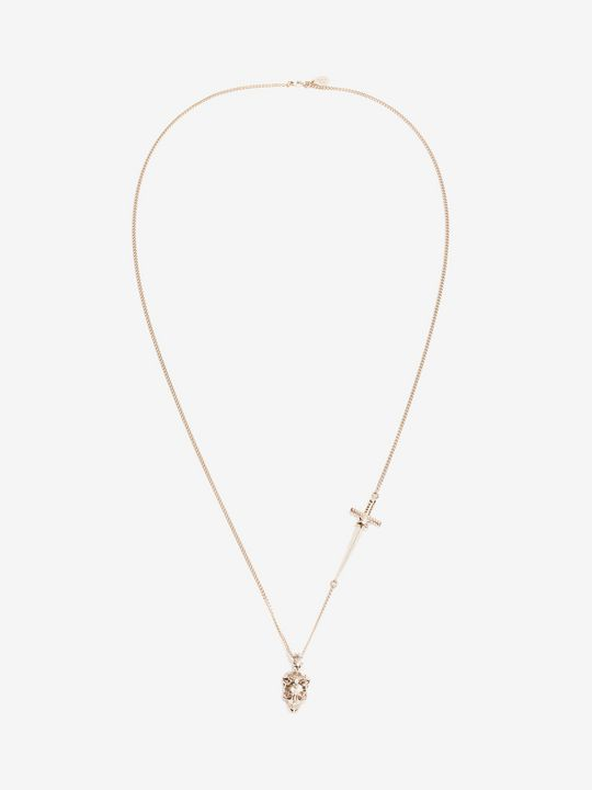 ALEXANDER MCQUEEN Necklace Woman Brass Star Dust Skull Pendant f