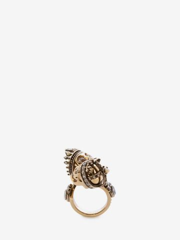 ALEXANDER MCQUEEN King and Queen Skull Ring Ring D f