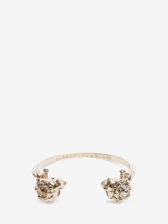 ALEXANDER MCQUEEN Bracelet Woman Brass Twin Brace Star Dust Bracelet f