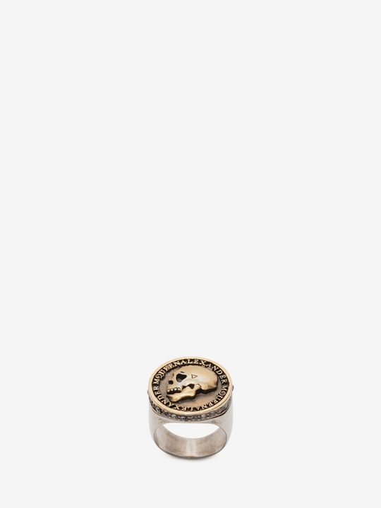 ALEXANDER MCQUEEN Ring Man Skull Coin Ring f