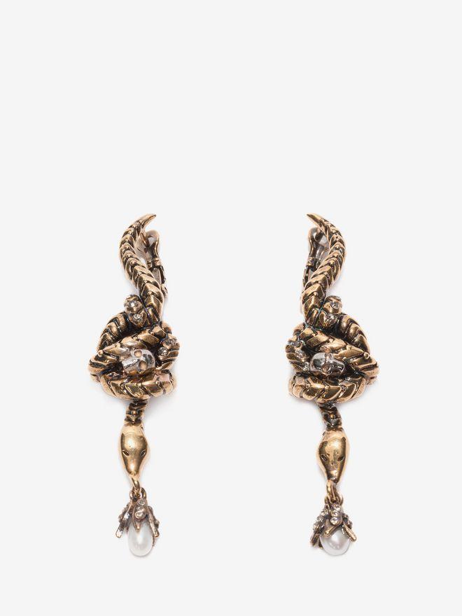 ALEXANDER MCQUEEN Skull Snake Earrings Earring D f