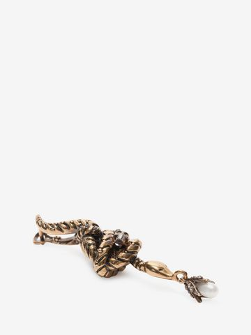 ALEXANDER MCQUEEN Skull Snake Earrings Earring D d
