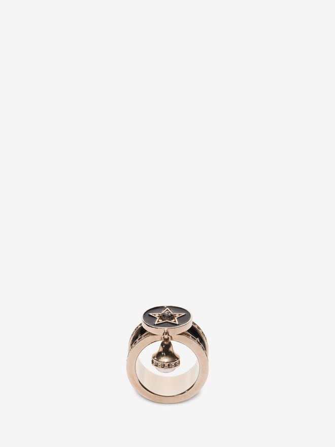 ALEXANDER MCQUEEN Jewelled Star Ring Ring D f