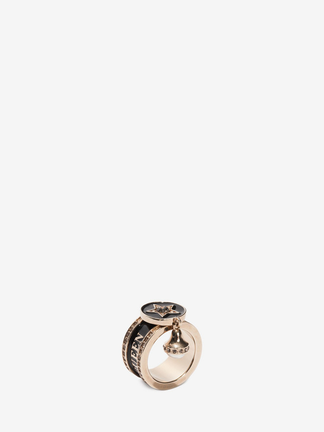 ALEXANDER MCQUEEN Jewelled Star Ring Ring D r