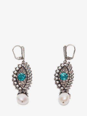 Alexander Mcqueen Jeweled Eye Earrings Earring Woman F