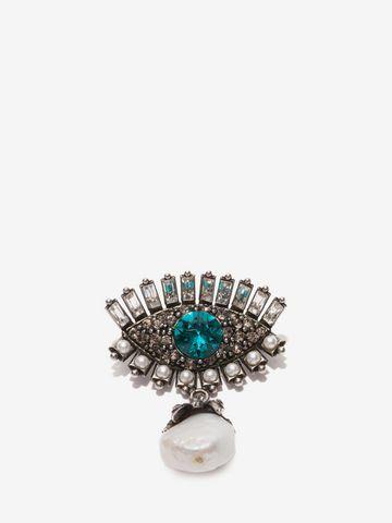 ALEXANDER MCQUEEN Jeweled Eye Brooch Brooch D f