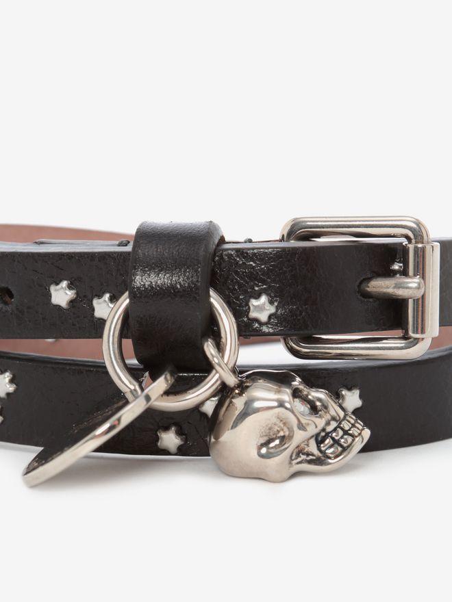 ALEXANDER MCQUEEN Double-wrap Star-Studded Bracelet Bracelet U d