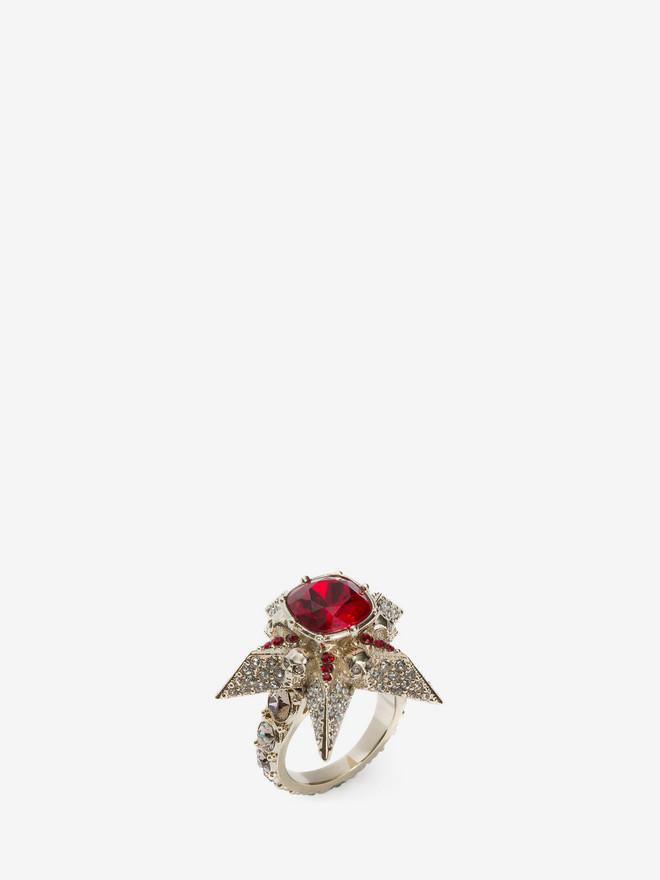 ALEXANDER MCQUEEN Star and Skull Ring Ring D r