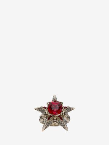 ALEXANDER MCQUEEN Star and Skull Ring Ring D d