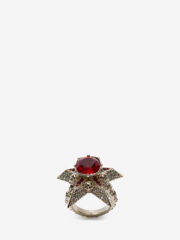 ALEXANDER MCQUEEN Star and Skull Ring Ring D f