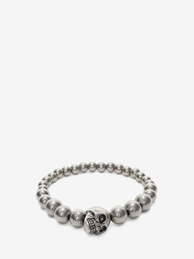 ALEXANDER MCQUEEN Skull multibeaded bracelet Bracelet Man f