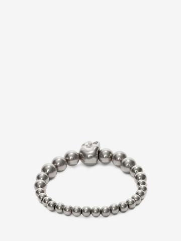 ALEXANDER MCQUEEN Skull multibeaded bracelet Bracelet Man r