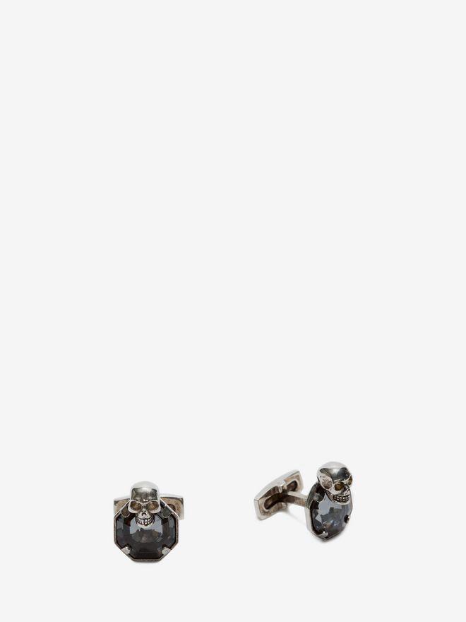 ALEXANDER MCQUEEN Stone and skull cufflinks Cufflink Man d