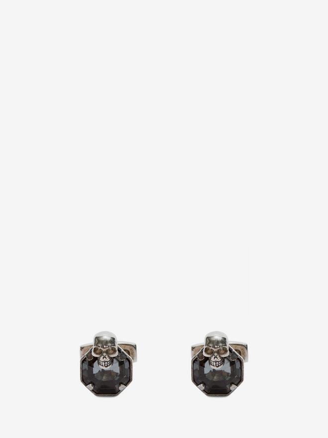 ALEXANDER MCQUEEN Stone and skull cufflinks Cufflink Man f