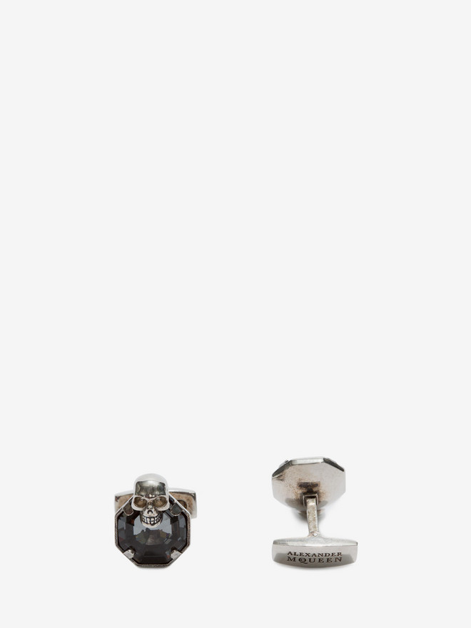 ALEXANDER MCQUEEN Stone and skull cufflinks Cufflink Man r