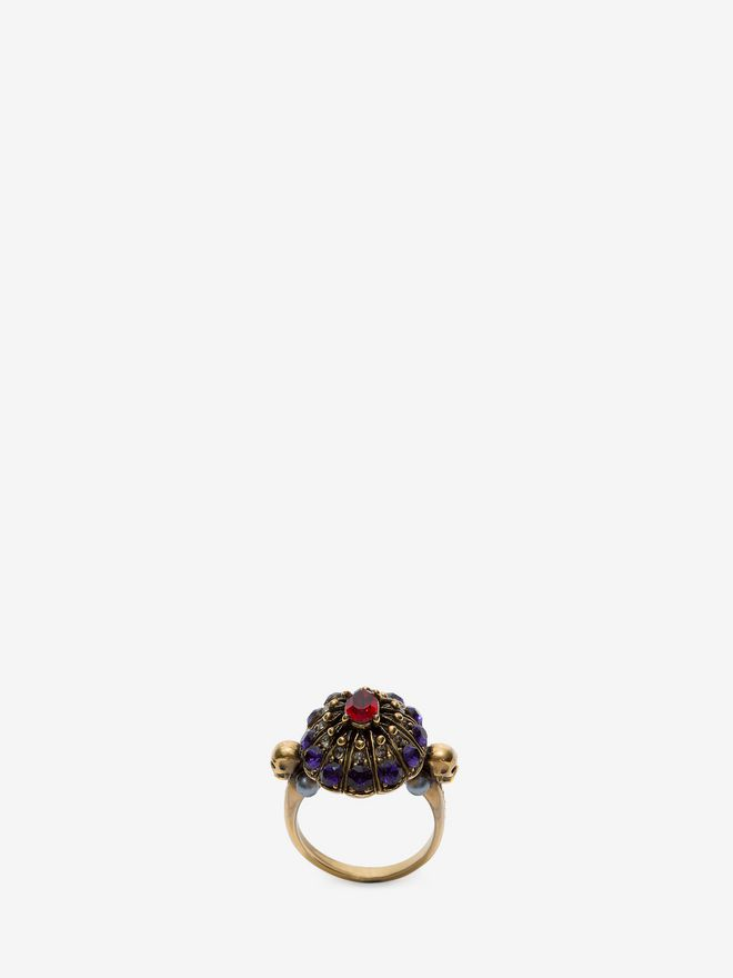 ALEXANDER MCQUEEN Jewelled Swarovski Crystal Ring Ring D f