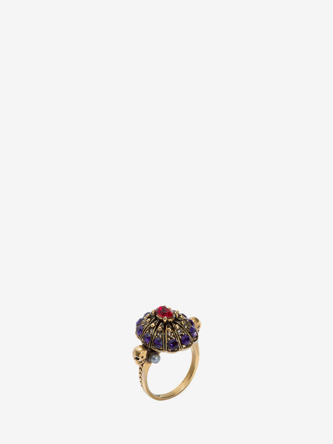 ALEXANDER MCQUEEN Jewelled Swarovski Crystal Ring Ring D r