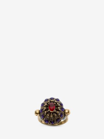ALEXANDER MCQUEEN Jewelled Swarovski Crystal Ring Ring D d