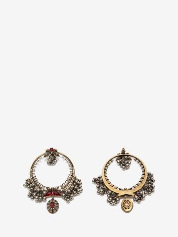 Alexander Mcqueen Metallic Sphere Hoop Earrings Earring Woman R