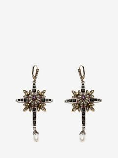 Jewelled Cross Earrings