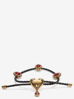 Heart Charm Nappa Bracelet