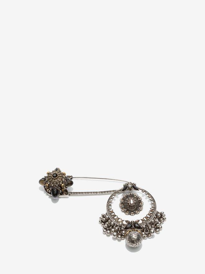 ALEXANDER MCQUEEN Kilt Safety Pin Brooch Necklace D f