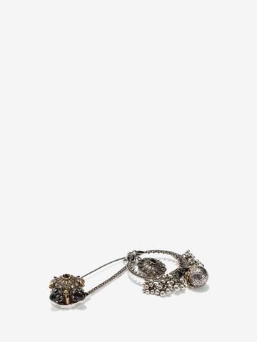 ALEXANDER MCQUEEN Kilt Safety Pin Brooch Necklace D r