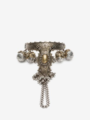 ALEXANDER MCQUEEN Hand Jeweled Bangle Necklace D f
