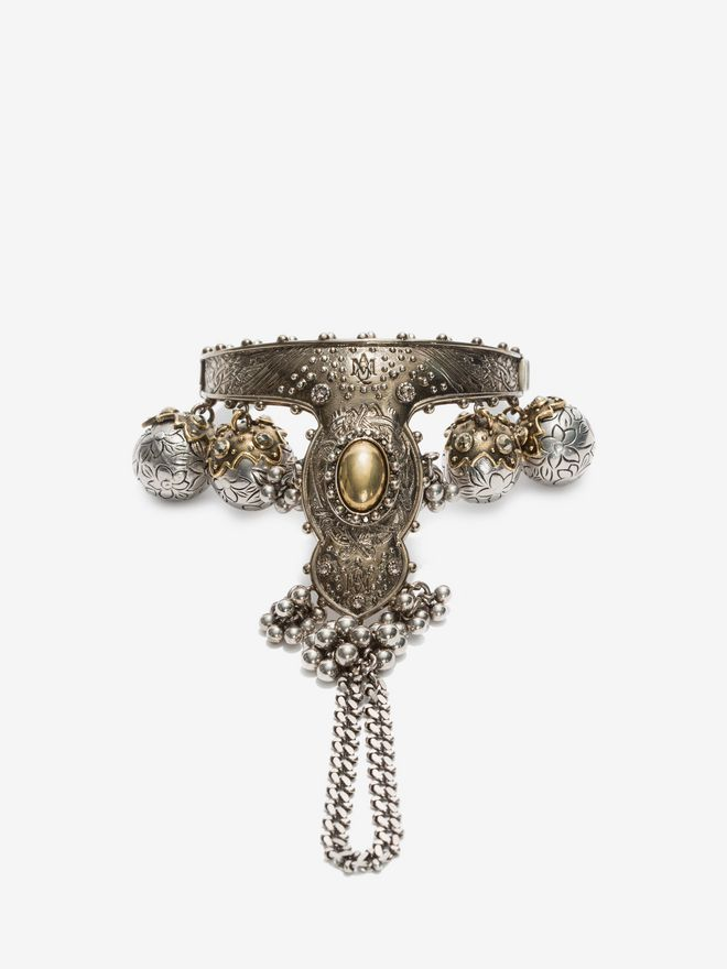 ALEXANDER MCQUEEN Hand Jewelled Bangle Necklace D f