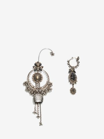 ALEXANDER MCQUEEN Jewelled Duo Earring Set Earring D f
