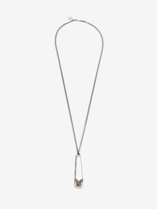 ALEXANDER MCQUEEN Oversize Safety Pin Necklace Necklace U f