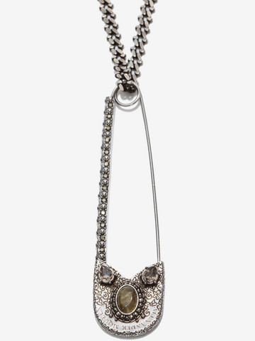 ALEXANDER MCQUEEN Oversize Safety Pin Necklace Necklace U r