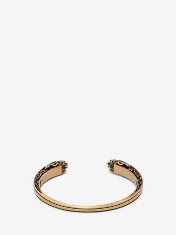 ALEXANDER MCQUEEN Twin Skull Engraved Bracelet Bracelet U r