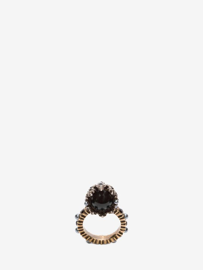 ALEXANDER MCQUEEN Queen Skull Ring Ring D d