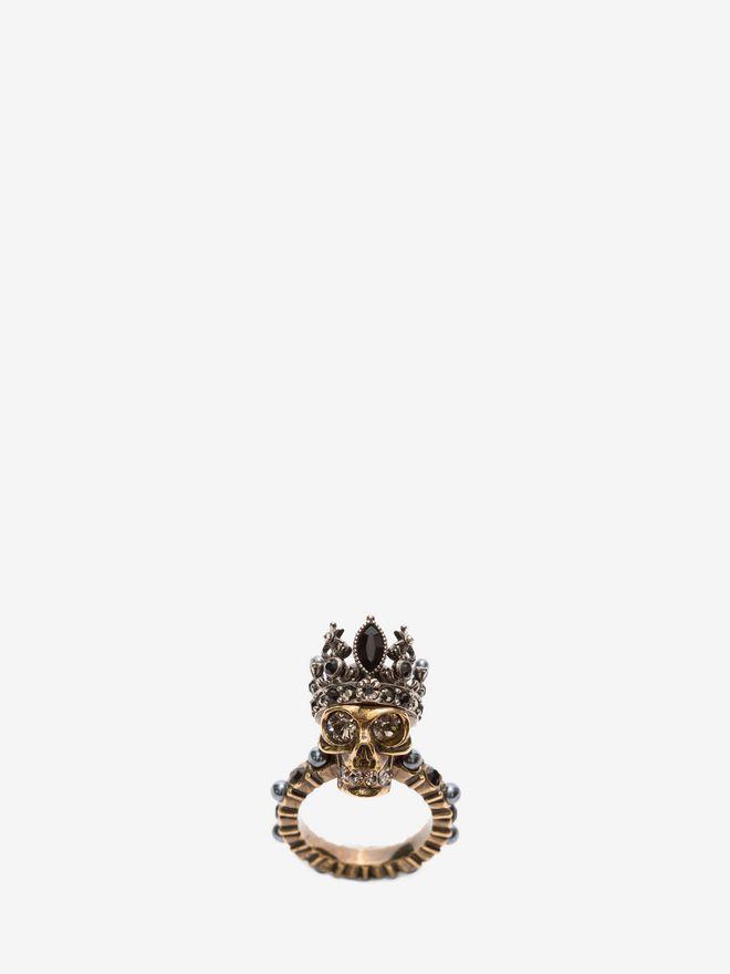 ALEXANDER MCQUEEN Queen Skull Ring Ring D f