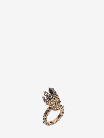 ALEXANDER MCQUEEN Queen Skull Ring Ring D r