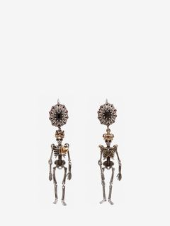 """Queen and King"" Skeleton Earrings"