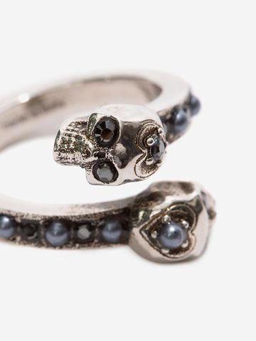 ALEXANDER MCQUEEN Wrap-Around Skull Ring Ring D d