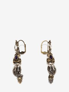 King And Queen Hand Earrings