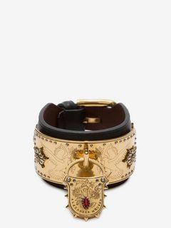 Leather Padlock Cuff