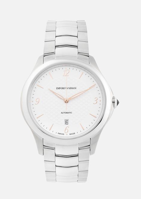 5a7321ab21 Emporio Armani Swiss Made Woman Automatic Stainless Steel Watch for Men |  Emporio Armani