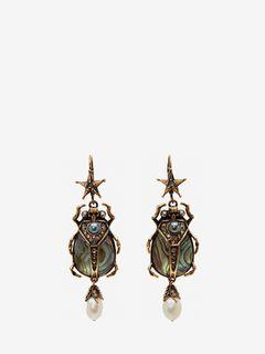 Boucles d'oreilles scarabée