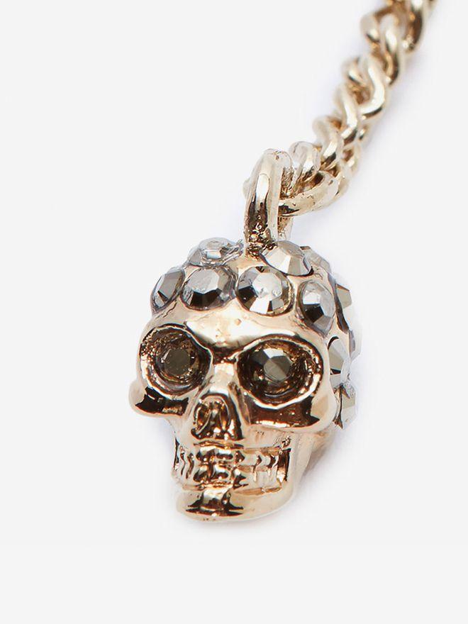 ALEXANDER MCQUEEN Double-Wrap Chain Skull Necklace Necklace D d