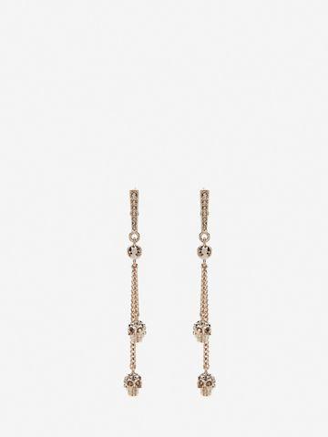 ALEXANDER MCQUEEN Chain Skull Earrings Earring Woman f