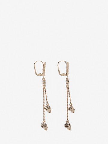 ALEXANDER MCQUEEN Chain Skull Earrings Earring Woman r
