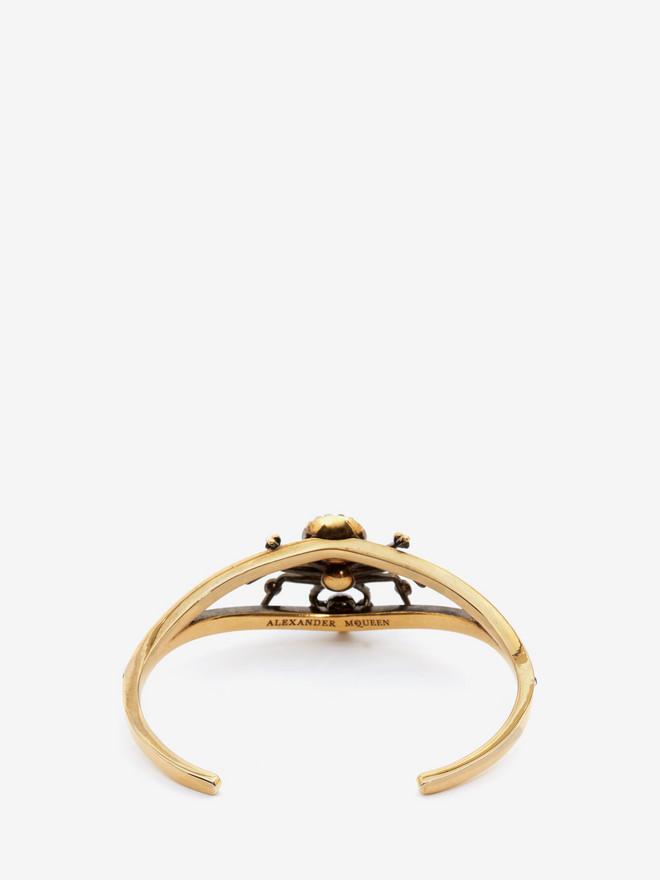 ALEXANDER MCQUEEN Swarovski and Crystal Spider Cuff Bracelet Woman r