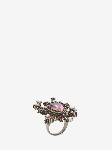 ALEXANDER MCQUEEN Jeweled Rose Ring Ring Woman r